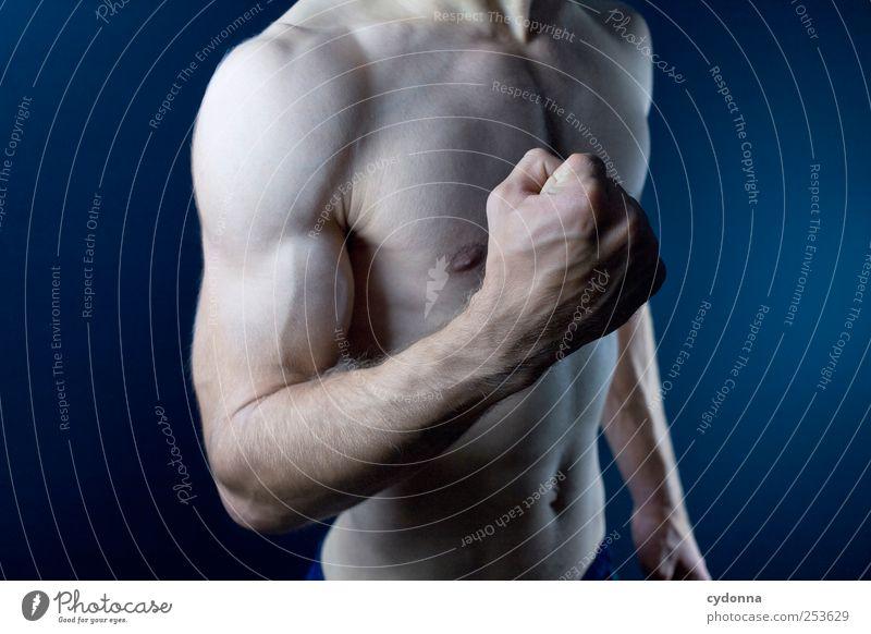 Harte Fakten Mensch Mann schön Leben Sport nackt Gesundheit Körper Kraft Arme Haut maskulin Energie ästhetisch Kraft