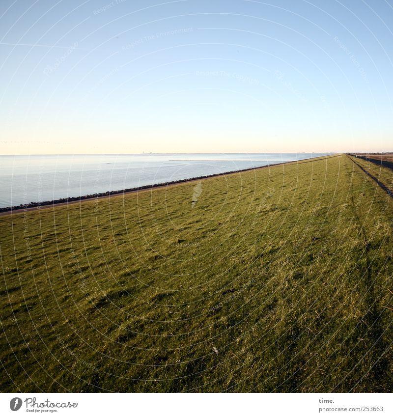Coastflow Himmel Wasser Meer ruhig Wiese Umwelt Landschaft Gras Glück Wege & Pfade Stimmung Zufriedenheit Horizont elegant einzigartig Nordsee