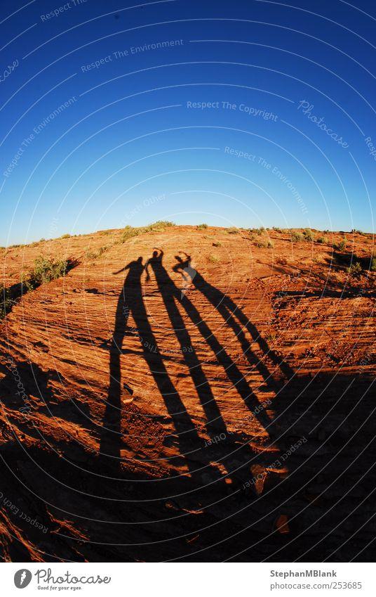Schattenspiele Mensch Himmel Natur Freude Landschaft Horizont Erde Felsen Abenteuer Perspektive USA Schlucht
