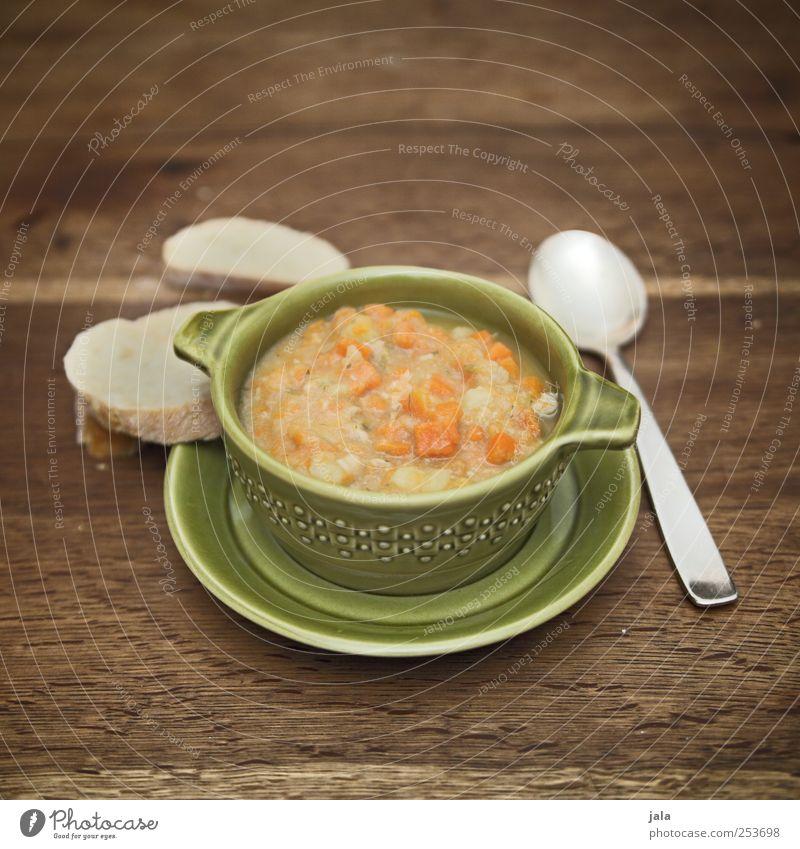 karottensuppe Ernährung Lebensmittel Gemüse Geschirr lecker Teller Appetit & Hunger Brot Bioprodukte Mittagessen Schalen & Schüsseln Suppe Löffel Vegetarische Ernährung Eintopf