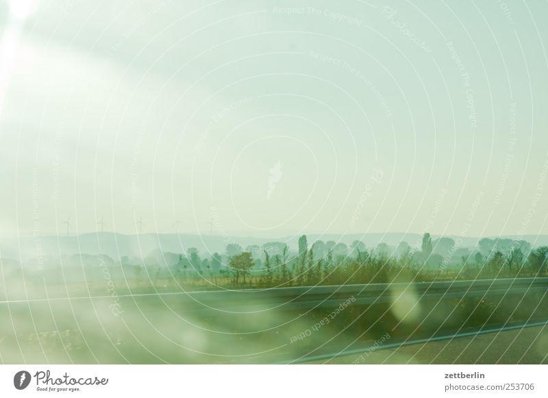 Landschaft Umwelt Natur Himmel Sonne Sonnenlicht Sommer Klima Klimawandel Wetter Schönes Wetter Verkehrswege Autobahn Ferne Hessen wallroth Ebene Auenland