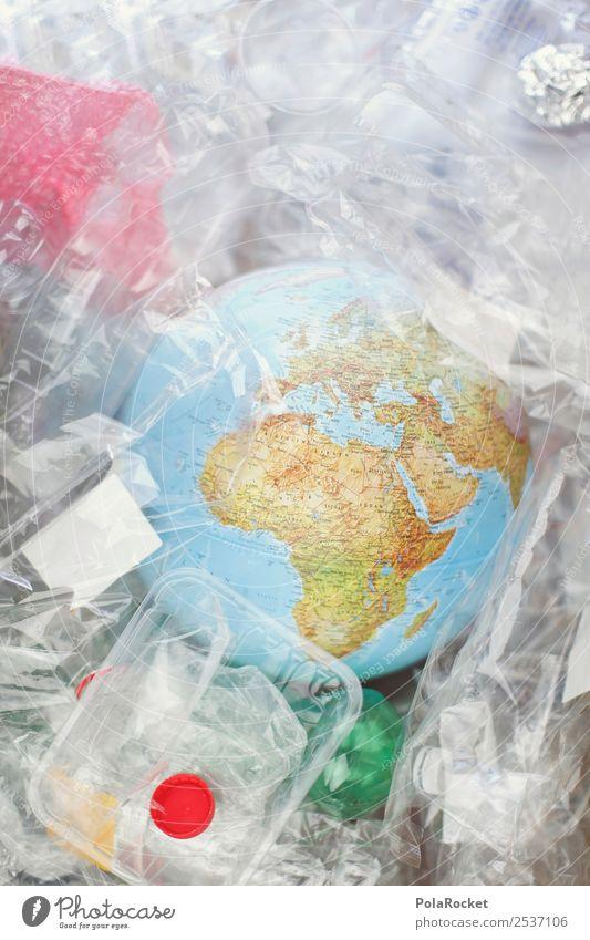 #A# Erde vermüllt Kunst ästhetisch Umwelt Umweltschutz Umweltverschmutzung Verpackung Verpackungsmaterial Globus nachhaltig Verantwortung Farbfoto mehrfarbig