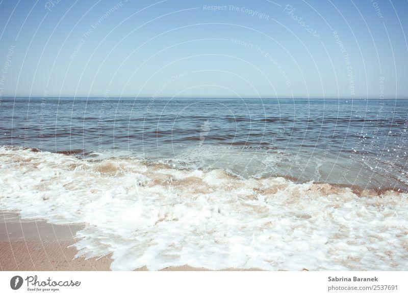 Nordsee I Ferien & Urlaub & Reisen Sommer Sommerurlaub Strand Meer Wellen Natur Landschaft Wasser Himmel Wolkenloser Himmel Schönes Wetter Küste atmen