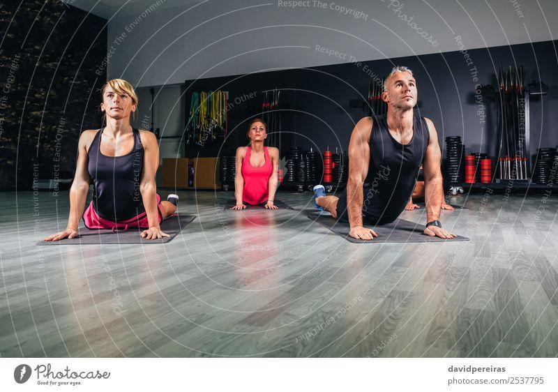 Frau Mann schön Lifestyle Erwachsene Sport Glück Schule Menschengruppe Freizeit & Hobby Körper Aktion authentisch Arme Fitness muskulös