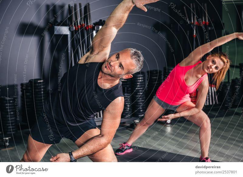 Frau Mann schön Erwachsene Sport Glück Schule Menschengruppe Freizeit & Hobby Körper Aktion authentisch Arme Fitness Club Disco