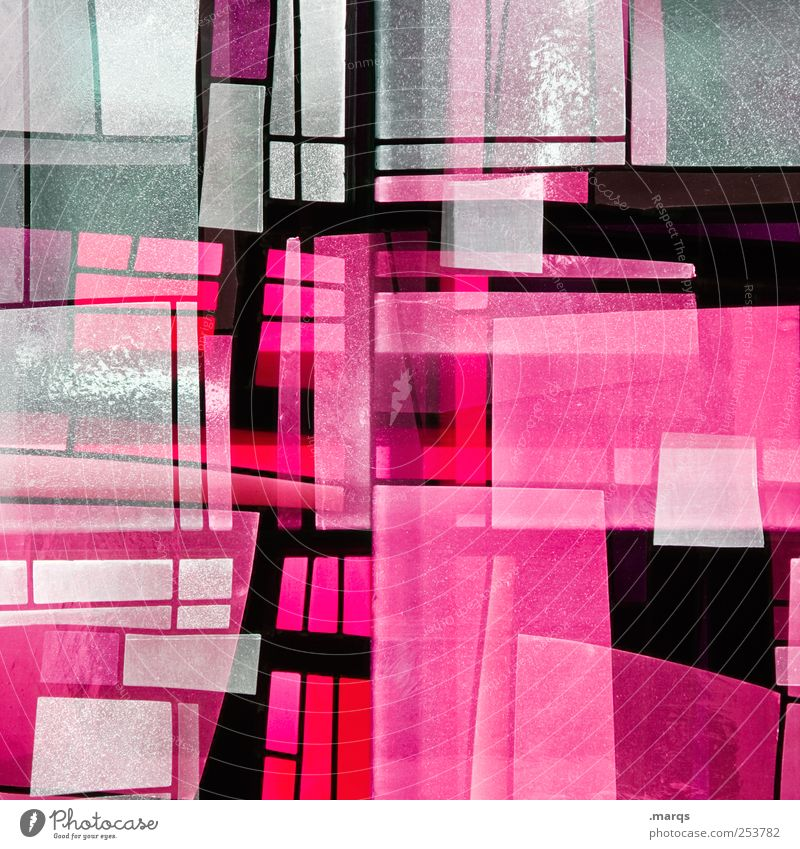Pink Lifestyle Stil Design Kunst Glas Linie leuchten außergewöhnlich Coolness trendy einzigartig rosa chaotisch Farbe skurril Surrealismus