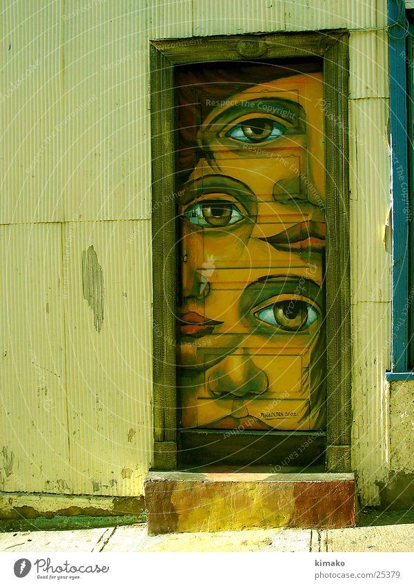 Valparaiso Tür Farbe Kunst Architektur Tür Chile Valparaíso