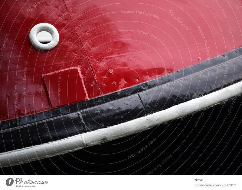 Das Fischgeheuer schläft, sagt Lukas Amsterdam Schifffahrt Binnenschifffahrt Wasserfahrzeug Metall Linie Streifen Niete dick fest historisch maritim