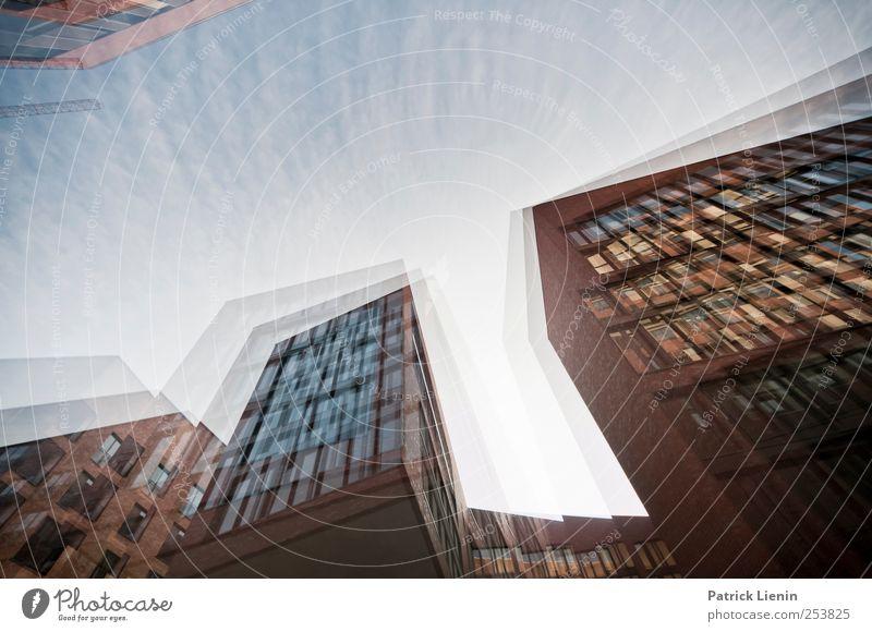 The other side of me Stadt Skyline bevölkert Hochhaus Bankgebäude Bauwerk Gebäude Architektur Mauer Wand außergewöhnlich bedrohlich dunkel hoch rebellisch