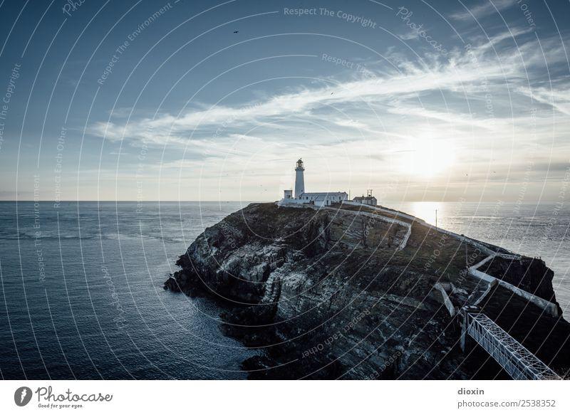 South Stack Lighthouse Ferien & Urlaub & Reisen Tourismus Abenteuer Ferne Sommer Sonne Meer Insel Wellen Umwelt Natur Landschaft Urelemente Erde Wasser Himmel