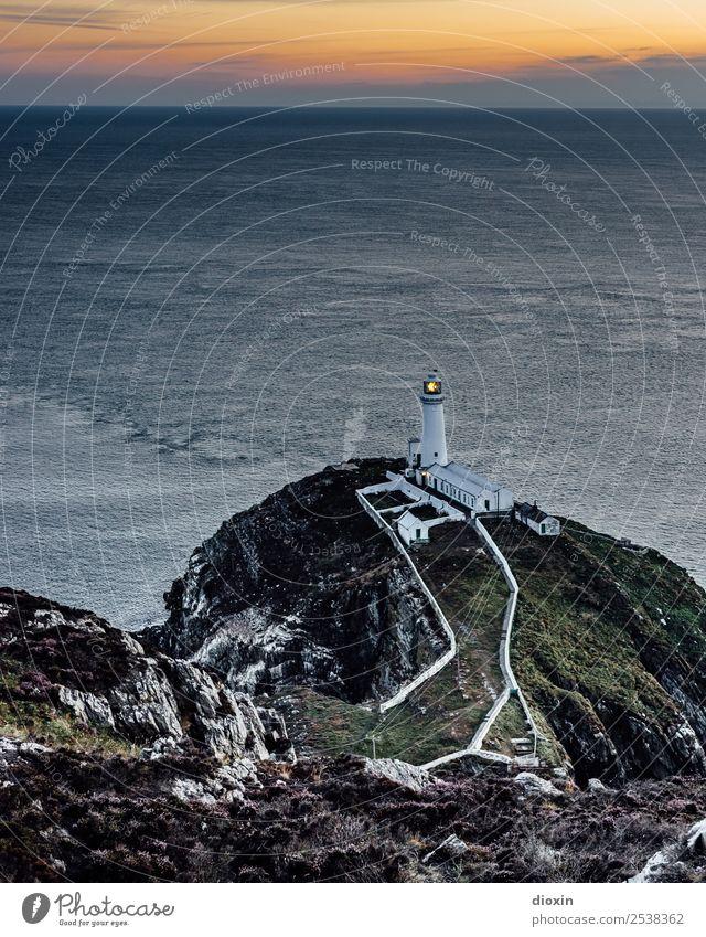 South Stack Lighthouse Ferien & Urlaub & Reisen Tourismus Abenteuer Ferne Freiheit Sightseeing Sommer Meer Insel Wellen Sonnenaufgang Sonnenuntergang Küste