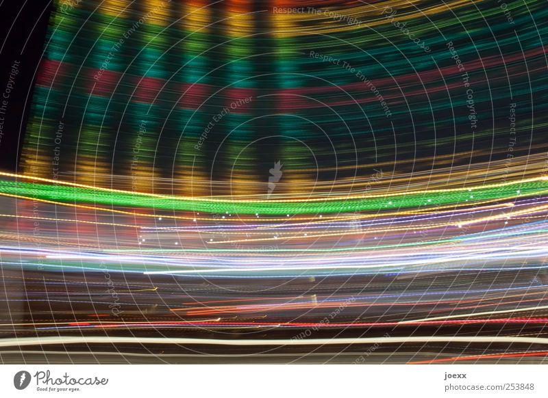 Grünstreifen Nachtleben Entertainment Bewegung Farbe Surrealismus Lichtspiel Schweif Farbfoto mehrfarbig Experiment Muster Menschenleer Lichterscheinung