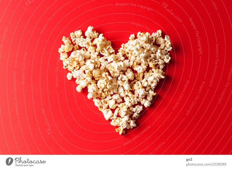 Popcorn Love Süßwaren Popkorn Ernährung Feste & Feiern Valentinstag Muttertag Hochzeit Geburtstag Kino Zeichen Herz lecker süß rot Gefühle Freude Glück