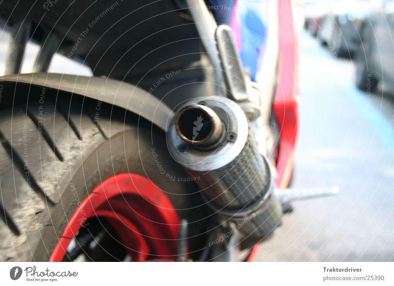 Kleines Kraftpaket Motorrad Auspuff Topf Abgas Rad Felge fahren Mobilität Freizeit & Hobby Hinterreifen Metrakit Angststreifen Rasen 2-Takt Stinker Tuning