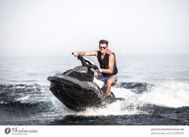 Jetski-Spaß auf dem Lago Lifestyle Reichtum Freude Glück Schwimmen & Baden Freizeit & Hobby Ferien & Urlaub & Reisen Tourismus Abenteuer Freiheit Sommer Sonne