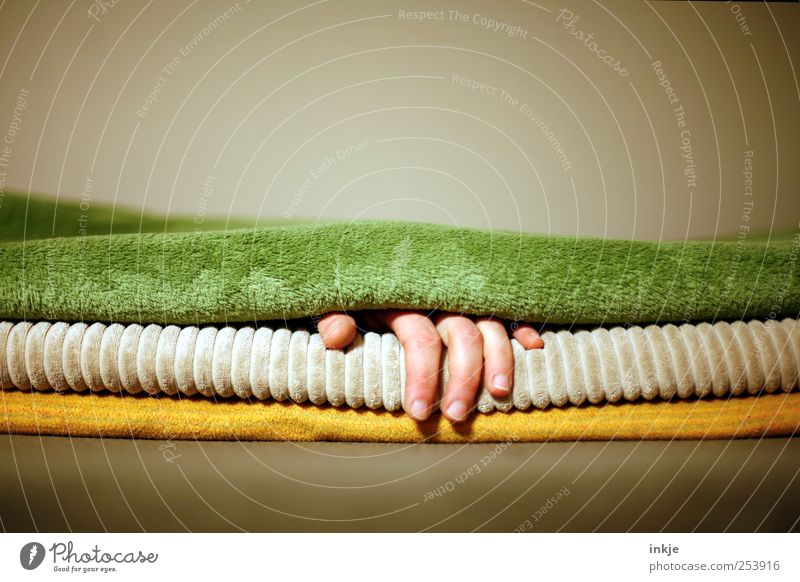 wochenende. endlich. Hand ruhig Erholung Leben Gefühle Stimmung Freizeit & Hobby liegen Finger schlafen Pause Häusliches Leben weich genießen Wohlgefühl Decke