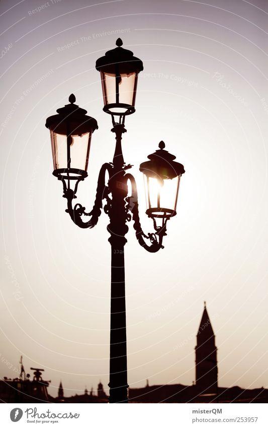Dreier. Stadt Ferien & Urlaub & Reisen ruhig Kunst Zufriedenheit Beleuchtung 3 ästhetisch Hoffnung Romantik Idylle Laterne Ewigkeit Venedig abgelegen friedlich