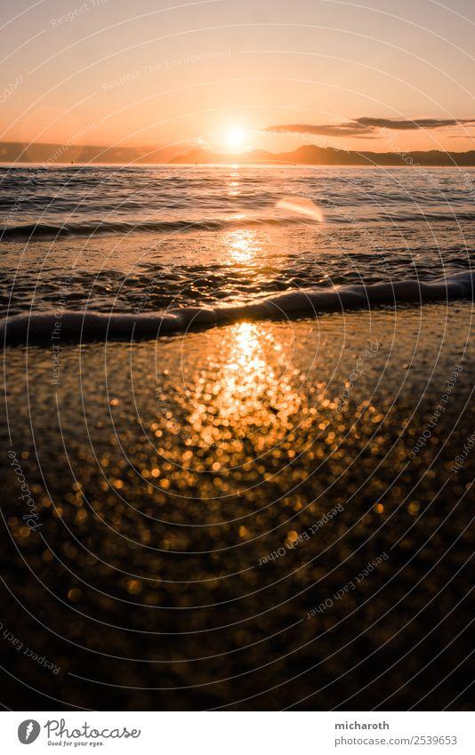 Sonnenaufgang über dem Meer Ferien & Urlaub & Reisen Ausflug Abenteuer Ferne Freiheit Sommer Sommerurlaub Strand Insel Umwelt Landschaft Klima Klimawandel