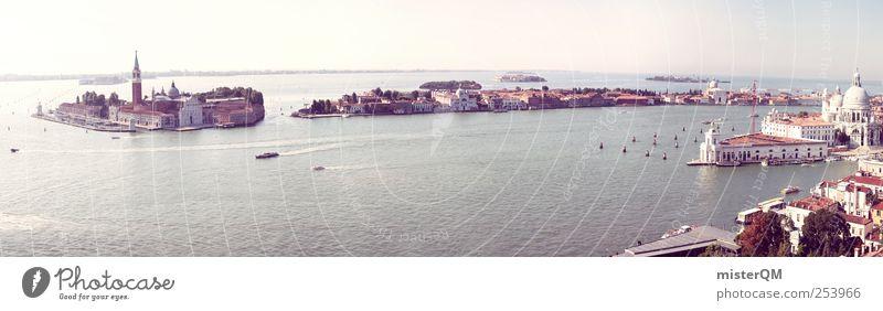 Wenn Träume wahr werden. Stadt Ferien & Urlaub & Reisen Meer Ferne Horizont ästhetisch Tourismus Kultur Italien Aussicht Fernweh Panorama (Bildformat) himmlisch