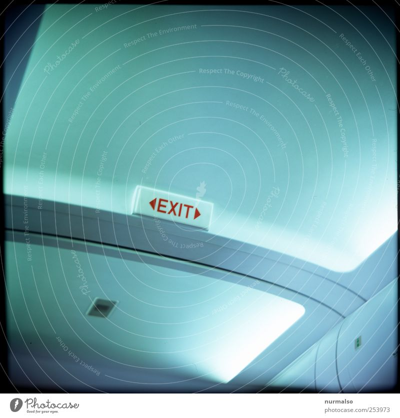 exit 1111 Lifestyle Ferien & Urlaub & Reisen Tourismus Ferne Technik & Technologie Kunst Luftverkehr Flugzeug Passagierflugzeug im Flugzeug Schriftzeichen