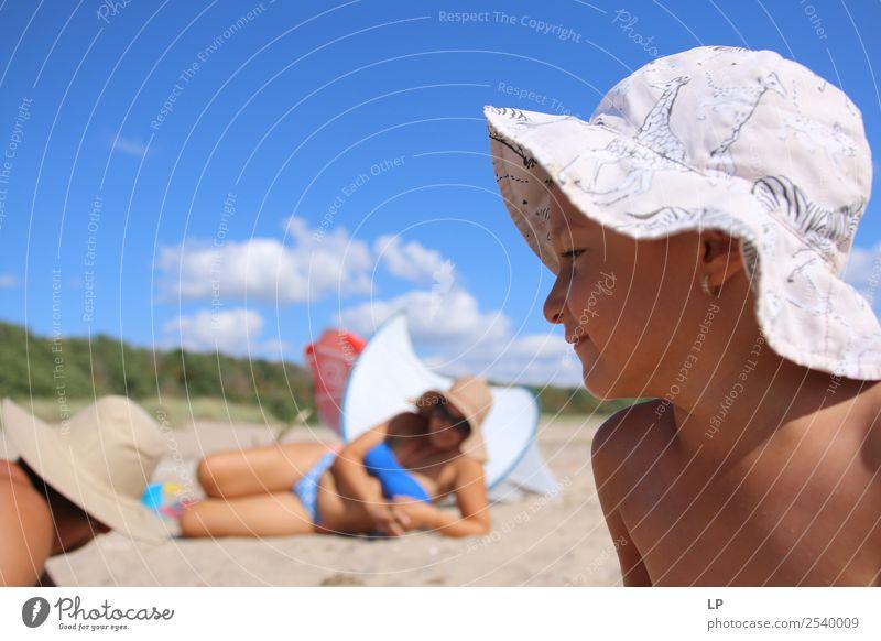Papa Mama Kind Lifestyle elegant Freude Sinnesorgane Erholung Freizeit & Hobby Spielen Ferien & Urlaub & Reisen Sommerurlaub Sonnenbad Kindererziehung Bildung