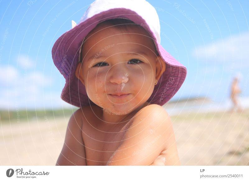 niedlich Lifestyle Freude schön Wellness harmonisch Zufriedenheit Ferien & Urlaub & Reisen Ausflug Ferne Sommer Sommerurlaub Mensch feminin Kind Mädchen Eltern