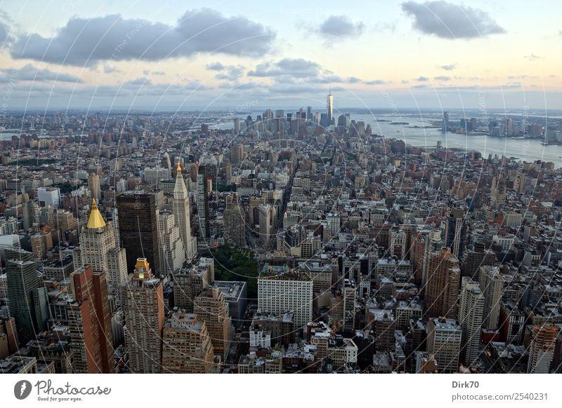 Empire State Building View Ferien & Urlaub & Reisen Sommer Stadt Architektur Tourismus außergewöhnlich modern Hochhaus Wachstum Schönes Wetter Zukunft groß