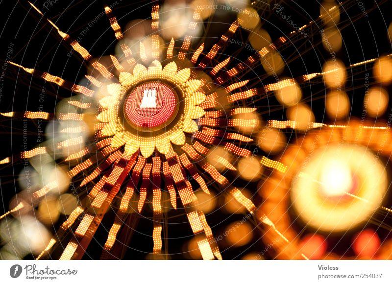 Hamburg meine Perle.. orange leuchten rund Hamburg Jahrmarkt Doppelbelichtung Bildausschnitt Lichtspiel Riesenrad Karussell Lichtpunkt Mittelpunkt Strukturen & Formen Lichtfleck Leuchtkörper gelb-orange