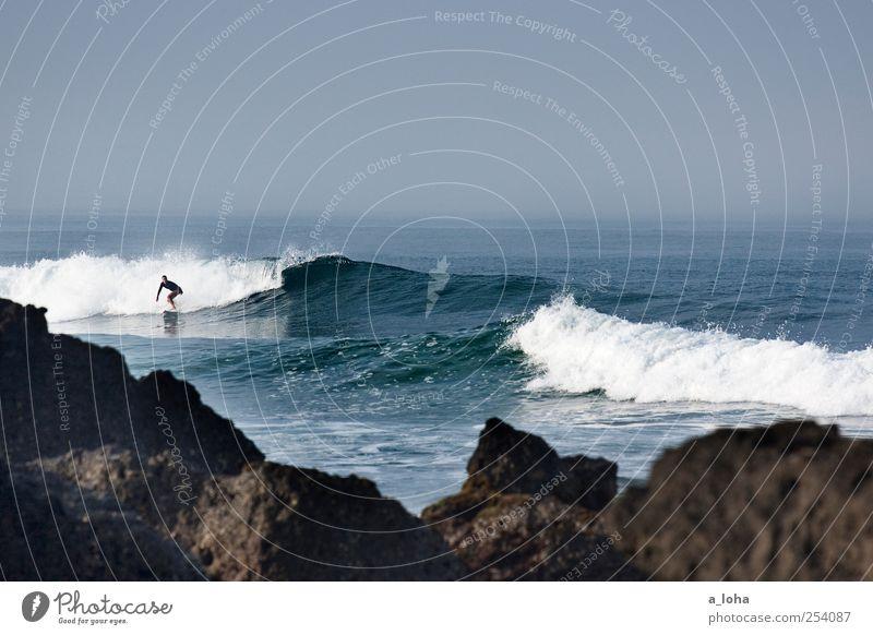 Follow Your Passion Lifestyle Freizeit & Hobby Ferne Sommer Sport Wassersport Sportler Surfbrett Mensch 1 Natur Urelemente Wolkenloser Himmel Schönes Wetter