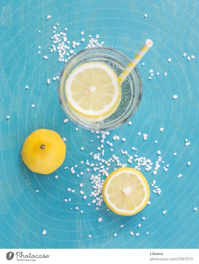 Zitronenlimonade Frucht Getränk Erfrischungsgetränk Limonade Lifestyle Sommer Sonne Erholung trinken Gesundheit hell kalt lecker sauer gelb türkis Glück Farbe