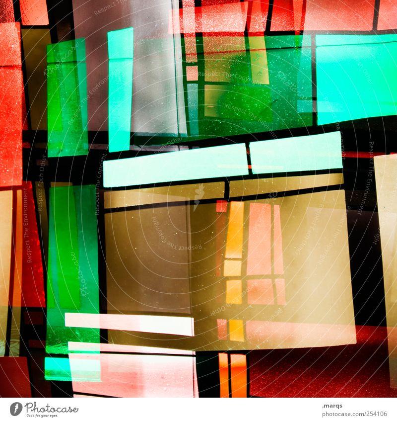 Oranje Lifestyle Stil Design Kunst Glas Linie leuchten außergewöhnlich Coolness trendy einzigartig mehrfarbig chaotisch skurril Surrealismus