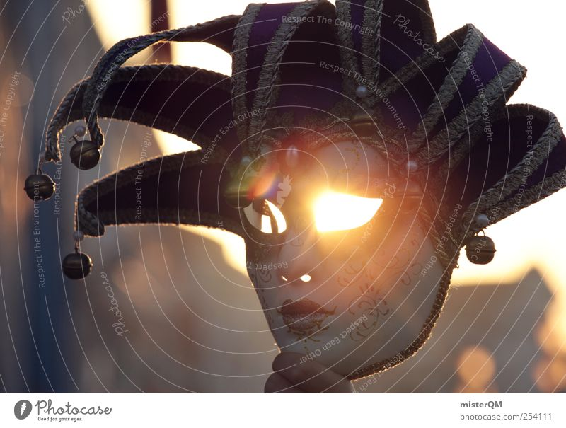 Mystery of Venice I Kunst ästhetisch Zauberei u. Magie Zauberhut Auge leuchten Gesicht unheimlich geheimnisvoll Krimi beängstigend bedrohlich Geheimnisträger