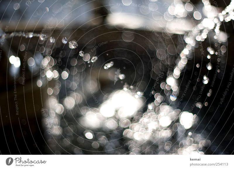 Wasser marsch Wassertropfen Sonnenlicht Schönes Wetter Brunnen frisch hell nass fließen spritzen Tropfen Farbfoto Gedeckte Farben Außenaufnahme Menschenleer Tag