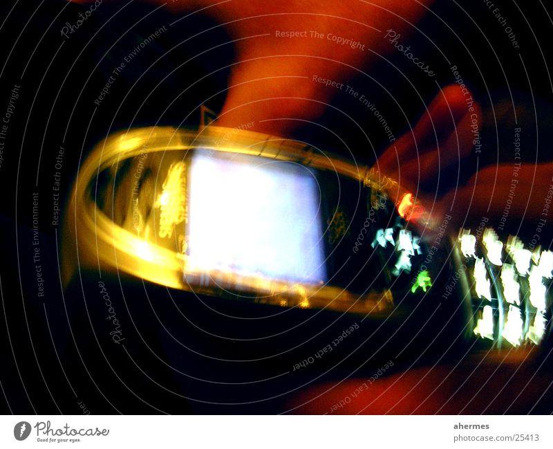 telefon Handy Telefon Langzeitbelichtung Stil mehrfarbig Siemens SL55
