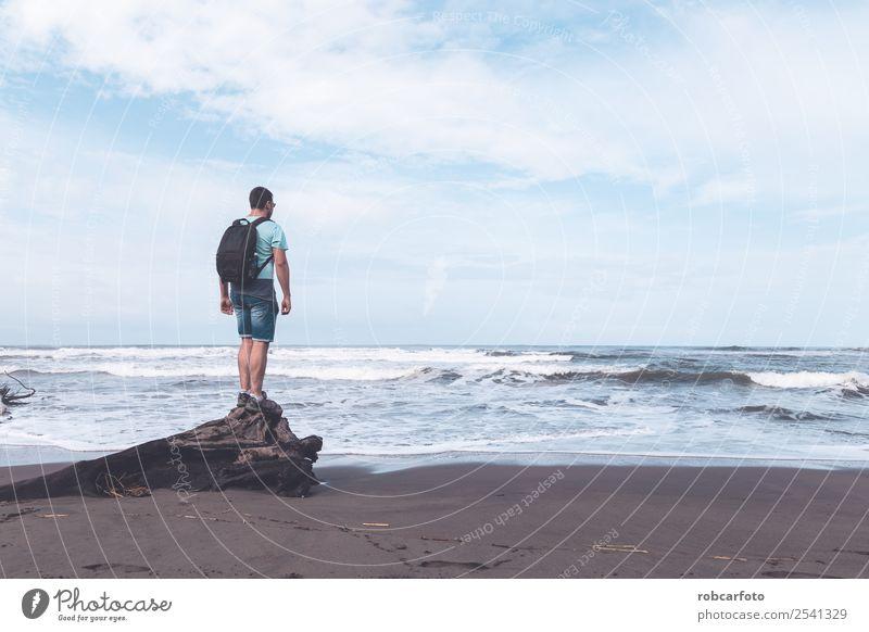 Karibisches Meer in Tortuguero Strand in Costa Rica exotisch schön Ferien & Urlaub & Reisen Sommer Sonne Insel Natur Landschaft Sand Himmel Baum Park Urwald