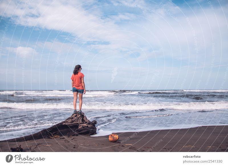 Himmel Natur Ferien & Urlaub & Reisen Sommer blau schön Landschaft Sonne Baum Meer Strand Küste Sand Park Insel exotisch
