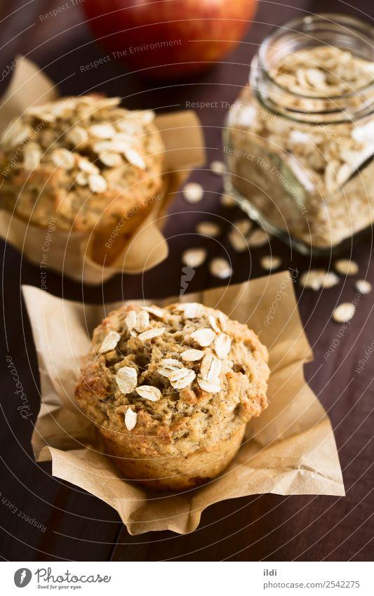 Apfel-Haferflocken-Muffin Brot Dessert Frühstück frisch Lebensmittel backen Korn Müsli gebastelt Backwaren Kuchen süß Snack Gesundheit saisonbedingt fallen