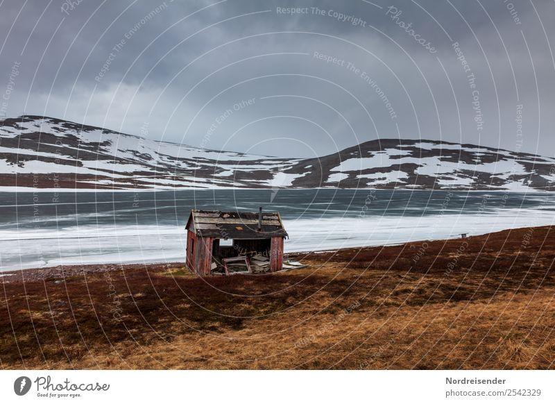 Krimi | Unterschlupf Natur Landschaft Urelemente Himmel Wolken Frühling Herbst Winter schlechtes Wetter Sturm Regen Eis Frost Berge u. Gebirge See Menschenleer