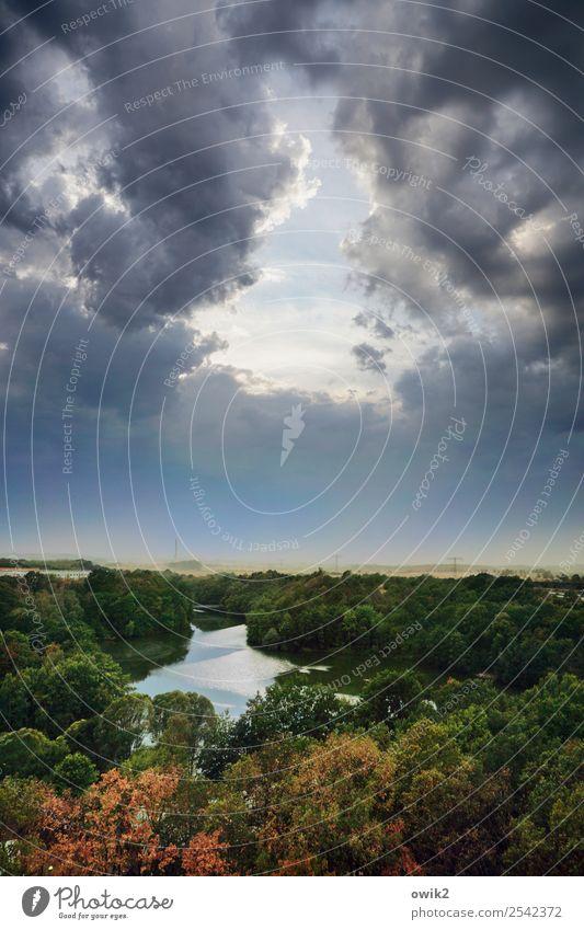 Spiegelung Umwelt Natur Landschaft Pflanze Luft Wasser Himmel Wolken Horizont Herbst Wetter Baum See Zufriedenheit Ferne Wolkenloch Durchblick Überblick