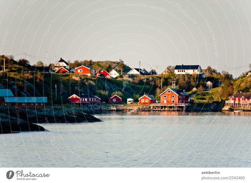 Ansichtskarte von Å Himmel Natur Ferien & Urlaub & Reisen Himmel (Jenseits) Wasser Landschaft Meer Reisefotografie Textfreiraum Felsen Horizont Europa Insel
