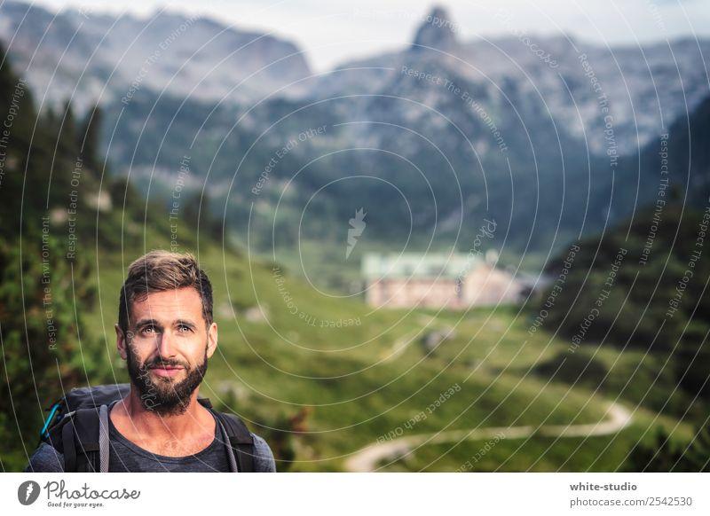 Bergsteiger Mensch Natur Ferien & Urlaub & Reisen Mann Landschaft Ferne Berge u. Gebirge Erwachsene Sport Tourismus Freiheit Ausflug Felsen wandern maskulin