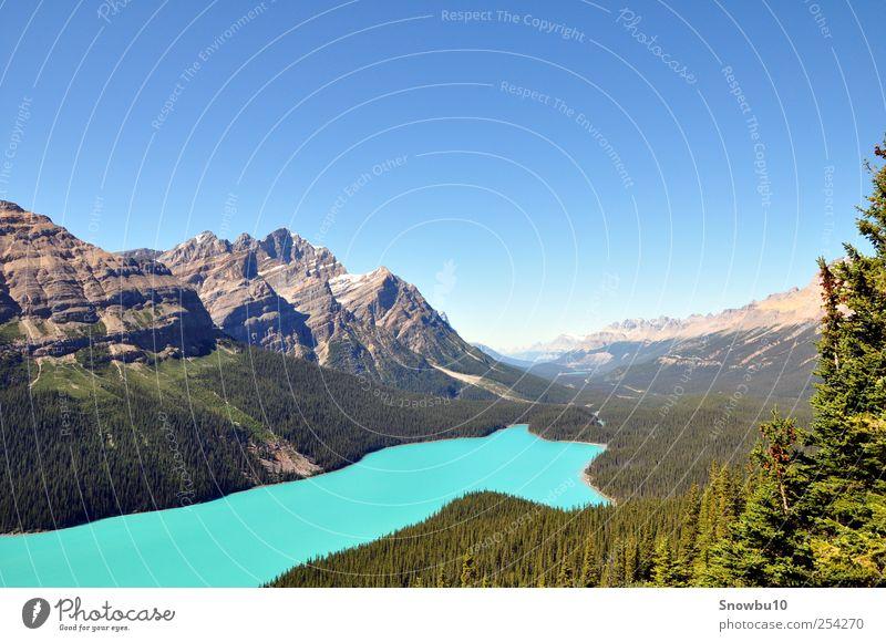 Canadian beauty Himmel Natur Ferien & Urlaub & Reisen Sommer Wasser Landschaft Ferne Berge u. Gebirge Freiheit See Tourismus Ausflug Schönes Wetter