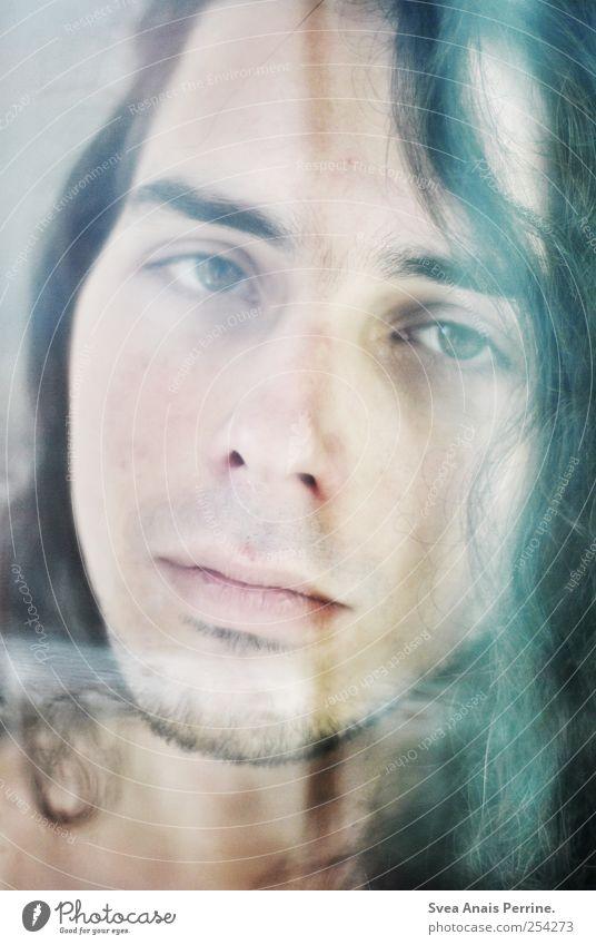 vergangene farben. Mensch Jugendliche schön Gesicht kalt Gefühle Erwachsene Haare & Frisuren Traurigkeit Mund maskulin einzigartig Lippen 18-30 Jahre Locken