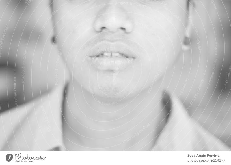 liebe den lebenden. Mensch Jugendliche Erwachsene Traurigkeit hell Mund maskulin Lippen 18-30 Jahre Kinn Junger Mann Gefühle
