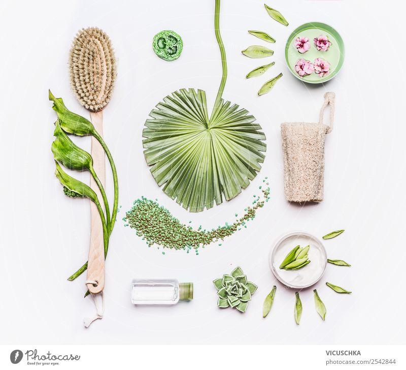 Massagebürsten und Produkte zur Cellulite Behandlung Natur schön grün Gesundheit Hintergrundbild Stil Design kaufen Wellness Körperpflege Kosmetik