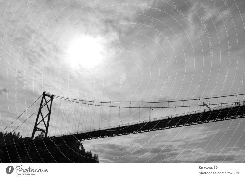 Lions Gate Bridge Mensch Ferien & Urlaub & Reisen Ferne Küste laufen außergewöhnlich Tourismus Brücke Bauwerk Sehenswürdigkeit Sightseeing Kanada Fußgänger