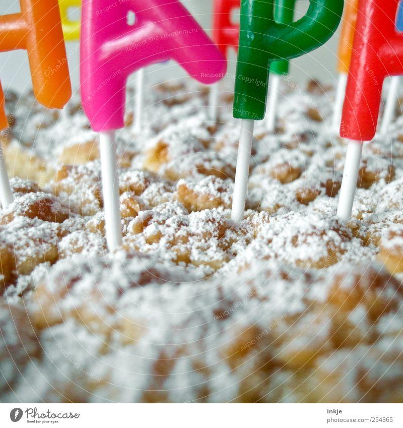 HAPP Kuchen Puderzucker Ernährung Lifestyle Freizeit & Hobby Party Feste & Feiern Geburtstag Dekoration & Verzierung Kerze Geburtstagstorte Schriftzeichen Duft