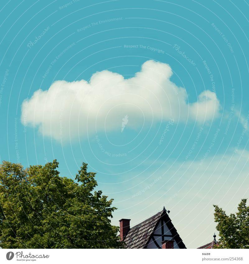 Horton hört ein Hu! Haus Umwelt Natur Urelemente Luft Himmel Wolken Klima Wetter Schönes Wetter Dach lustig blau grün weiß Phantasie Baumkrone Elefant