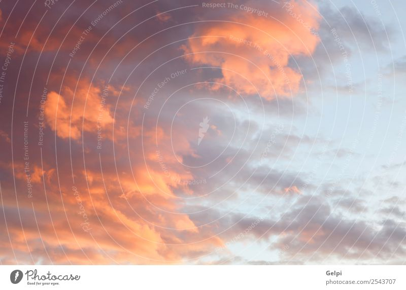 Idyllischer roter Himmel bei schönem Sonnenuntergang Sommer Natur Landschaft Wolken Horizont Wetter dunkel hell natürlich gelb rosa Farbe Idylle orange