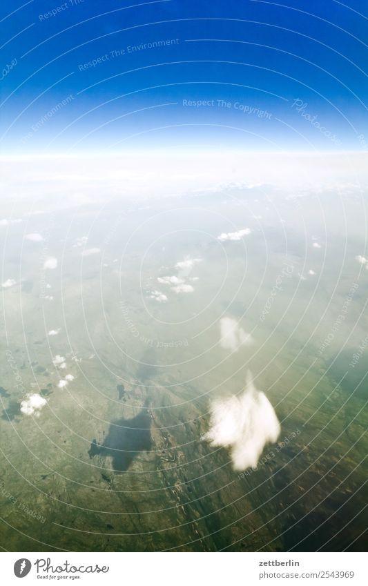 Wolken über Norwegen Aussicht Fensterblick Ferien & Urlaub & Reisen fliegen Luftverkehr fliegend Flugzeug Himmel Himmel (Jenseits) Horizont Landschaft